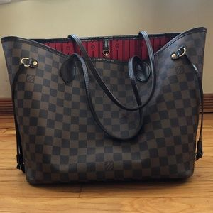 💯 Authentic Louis Vuitton Neverfull MM Bag Tote